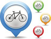 Bicycle,Global Positioning System,Computer Icon,Wheel,Infographic,Silhouette,Part Of,Design Element,Colors,Sport,Sign,Interface Icons,Transportation,Pointing,Isolated,Yellow,Red,Green Color,Blue,Vector,Design,template,Set,Isolated On White,Map,White Background,Map Pin,Map Marker,Label,Push Button,Web Element