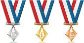 Award,Diamond Shaped,Competition,Crystal,Trophy,Medal,Glass - Material,Determination,Award Ribbon,Gold Colored,Leadership