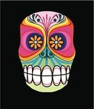 Day Of The Dead,Mexico,Animal Skull,Skull and Crossbones,Mask,Dead Animal,Halloween,Oaxaca,Dead Person,Death,Celebration,Multi Colored,Medical,Travel Locations,Medicine And Science,Illustrations And Vector Art