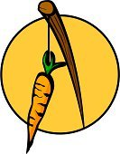 Dangling a Carrot,Stick - Plant Part,String,Hanging,Ilustration,Incentive,Food,Vector,Healthy Eating,Support,Food And Drink,Stem,Root,stimulating,Branch,Leaf,Root Vegetable,Vegetable,Carrot
