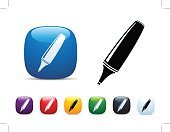 Shiny,Symbol,Interface Icons,Icon Set,Memories,Learning,Reminder,Highlighter,Writing,Important