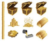 Nugget,Gold Colored,Gold,Treasure Chest,Pouring,Coin,Ingot,Trunk,Computer Icon,Icon Set,Vector,Melting,Stack,Variation,Full,Finance,Abundance,Wood - Material,Isolated,Empty,Half Full,Falling,Box - Container,Collection,Man Made Object,Molten,gold coins,Isolated On White,Wealth,Group of Objects,Set