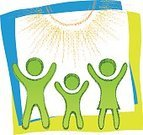 Sunrise - Dawn,Sunlight,Sun,Family,Sign,Vector,Hand Raised,Symbol,Computer Icon,Father,Mother,Lifestyles,Nature,Life,Environment,Drawing - Art Product,Ink,Sunbeam,Parent,Chalk Drawing,Harmony,Love,Concepts,Baby,Doodle,Design Element,Pencil,People,Ideas