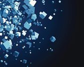 Cube Shape,Exploding,Three-dimensional Shape,Exploration,Geometric Shape,Chaos,Shape,Abstract,Computer Graphic,Ilustration,Vector,Backgrounds,Digitally Generated Image,Modern,Design,Blue,Square Shape,Futuristic,Chance