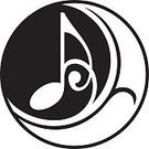 Musical Note,Music,Circle,Symbol,Computer Icon,Sign,Design Element,Contrasts,Floral Pattern,Ornate,Label