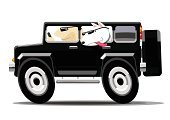 Dog,Car,Urban Road,Country Road,Road,Sports Utility Vehicle,Driver,Trained Dog,Road Trip,Travel,4x4,Vacations
