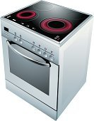 Stove,Brazier,Oven,Touch Panel,Appliance,Vibrant Color,Bright