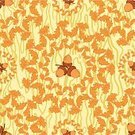 Organic,Ornate,Wrapping Paper,Repetition,Backgrounds,Abstract,Vector,Seamless,symbolical,Decoration,Tree,Curve,Brown,Oak Tree,Acorn,Plant,Design Element,Style,Leaf,Nut - Food,Textile,Pattern,Environment,Nature,Wallpaper Pattern