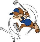 Golfer,Golf Swing,Golf Ball,Sport,Blue,Athlete,Clip Art,Isolated On White,Brown,Golf,Hat,Vector,White Background,Ilustration,Tee,Golf Club,Swinging,Action