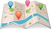 Map,Cartography,Straight Pin,Global Positioning System,Internet,Searching,Direction,Home Interior,Symbol,Discovery,Street,Guide,People Traveling,Sign,Journey,Road,Travel,Technology,Paper,Thoroughfare,Concepts,Backgrounds,City,Tourism,Town,Land,Arranging,Optical Instrument,Ilustration,Drawing - Art Product,Travel Destinations,Position,White,Road-map