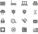 Computer Bug,Network Security,Symbol,Computer Icon,Icon Set,Firewall,Router,Magnifying Glass,Flat,Shield,Rack,Computer Network,Padlock,Simplicity,Black Color,Laptop,Network Connection Plug,E-Mail,Searching,Cloud Computing,Hard Drive,Wireless Technology,Vector,Modem