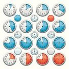 Clock,Stopwatch,Dial,Gauge,Clock Face,Symbol,Time,Minute Hand,Digitally Generated Image,Vector,Number,Clock Hand,Icon Set,Computer Graphic,Ilustration,Red,usage,nomura,Metallic,Variation,03,Large Group of Objects,Chrome,Second Hand,Business Concepts,Illustrations And Vector Art,Business,Objects/Equipment