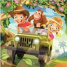Child,Tropical Rainforest,Off-Road Vehicle,Car,Tree,Cartoon,Adventure,Little Boys,Summer,Little Girls,Animal,Fun,Nature,Togetherness,Creativity,Driving,Hat,Playful,Playing,Fantasy,Vector,Human Face,Blond Hair,Outdoors,Backgrounds,Multi Colored,Friendship,Sky,Bizarre,Red,Pink Color,Cowboy Hat,Green Color,Smiling,Sibling