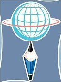 Globe - Man Made Object,Map,Pencil,Ilustration,Vector,Education