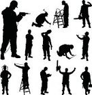 Silhouette,Back Lit,Construction Worker,Manual Worker,Occupation,Construction Industry,Mechanic,Repairing,Craftsperson,Repairman,People,Home Interior,Men,Industry,Teamwork,Building Contractor,Improvement,Working,Architect,White,Caucasian Ethnicity,Male,Adult,Equipment,Work Tool,Maintenance Engineer,Backgrounds,Professional Occupation,Isolated,Work Helmet,Ruler,Standing