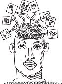 Human Brain,Black And White,Doodle,Sketch,Heart Shape,Creativity,Connection,Currency,Ideas,Togetherness,Question Mark,Coin,Human Head,Symbol,Cable,Front View,Light Bulb,Vertical,Mental Health,Sun,Arrow Symbol,Clip Art,Cloud - Sky,Vector,Simplicity,black-and-white,Pen And Marker,Healthcare And Medicine,isolated objects,Isolated On White,Confusion,Ilustration,Thinking,Illuminated,Human Mouth,Science,Illustrations And Vector Art,Human Face,Line Art,Drawing - Art Product,hand drawn,Transparent,Human Eye