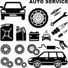 Car,Equipment,Work Tool,Auto Repair Shop,Tire,Battery,Repairing,Wheel,Simplicity,Driving,Mechanic,Set,Oil,Engine,accumulator,Station,Gear,Industry,Black Color,Spanner,Ilustration,Vector,Electric Plug,Cut Out,Icon Set,Electricity,Service,Mode of Transport,Symbol,Technology,Gasoline,Isolated