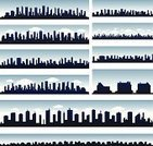 Silhouette,Back Lit,Urban Scene,City,Urban Skyline,Residential District,House,Housing Development,City Life,Summer,New York City,Cityscape,Montreal,Panoramic,Backgrounds,USA,Canada,Real Estate,Business,Cloudscape,Cloud - Sky,Downtown District,Architecture,Blue,Day,Sky