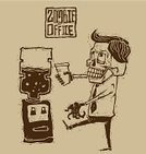Zombie,Office Interior,Halloween,Monster,Coffee - Drink,Shirt,Tie,Human Brain,Dead Person,Manager,Horror,Suit,Drink,Retro Revival,Vector,Linocut,Human Teeth,Scott Strange,File Clerk,Change Dispenser,Drawing - Art Product,Occupation,Costume,Computer Graphic,Businessman,People,Business,Fear,Black Color,Ilustration,Engraved Image,Human Hand,Water Cooler,Design,Tea - Hot Drink,Men,Cap,Humor,Cute,Hand-drawn,Job - Religious Figure,Scull,Dead,Casual Clothing,Senior Adult,Bizarre