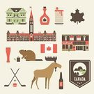 Canada,Moose,Vector,Pancake,Syrup,Tree,Badge,Flag,Sign,Leaf,Hill,Breakfast,Backgrounds,Stick - Plant Part,Ilustration,Insignia,Hockey Puck