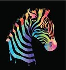 Zebra,Green Color,Animal,Nature,Striped,Africa,Fur,Animals In The Wild,Black Color,Animal Head,Transparent,Stroke,Sketch,Abstract,Computer Graphic,Bright,Backgrounds,Pink Color