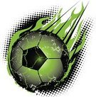 Soccer,Burning,Comet,Fire - Natural Phenomenon,Spotted,Black Color,Sport,Flame,Ball,Green Color,Meteor,Flying,Meteorite,kryptonite,Radioactive Warning Symbol,Cartoon,Heat - Temperature,Speed