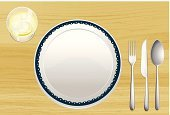 Computer Graphic,Plate,Dinner,Food,Lunch,Bowl,Spoon,yummy,Kitchen Utensil,Fork,Restaurant,Crockery,Slice,Table Knife,dinning,Serving Size,Meal,Eating,Wood - Material,Lime,Backgrounds,Food And Drink