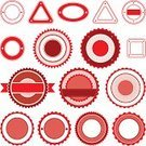Sale,Label,Red,Empty,Set,Isolated,Circle,Trading,Vector,Postage Stamp,Badge,Triangle,Square Shape