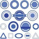 Badge,Blue,Empty,Symbol,Set,Isolated,Circle,Trading,Vector,Sale,Triangle,Label,Square Shape