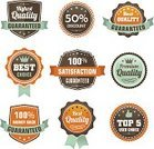 Badge,Symbol,Label,premium,warranty,Multi Colored,Security,Brown,Cup,Backgrounds,Sign,Blue,Insignia,Vector,template,Single Object,Ilustration,Crown,Collection,Percentage Sign