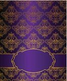 Purple,Gold Colored,Wallpaper Pattern,Backgrounds,Wallpaper,Vector,Antique,Obsolete,Retro Revival,Image,Design Element,Design,Ilustration,Old-fashioned,Beautiful,Color Image,Colors,Pattern,Decoration,Classic,Elegance,Computer Graphic,Cartoon,Tapestry,Frame,Ornate
