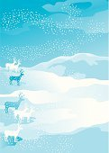 Reindeer,Lapland,Lapland,Deer,Winter,Snowdrift,Holiday,Animal,Blizzard,Turbulence,Landscape,Backgrounds,Ilustration,Snow,Season,Frost,Positive Emotion,Blue,Vector,White,Snowflake,Decoration,Time,Mammals,Illustrations And Vector Art,Animals And Pets,Concepts And Ideas,December