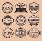 Auto Racing,Motorsport,Sports Race,Retro Revival,Old-fashioned,Sign,Badge,Insignia,Motocross,Formula One Racing,Sport,Symbol,Computer Icon,Drive,Traffic,Competitive Sport,Interface Icons,Label,Checked,Rally Car Racing,Road,Old,Obsolete,rather,Set,Driver,Speed,Circle,Colors