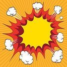 Comic Book,Exploding,Backgrounds,Cartoon,Orange Color,No People,Ilustration,Copy Space,Advertisement,Thinking,Boom,Vector,Danger,Symbol,Drawing - Art Product,White,Speed,Anger,Creativity