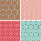 Honeycomb,Hexagon,Pattern,Halftone Pattern,Pink Color,Brown,Two-dimensional Shape,Backgrounds,Turquoise,Square Shape,Natural Pattern,Set,Wallpaper Pattern,Design Element,Textured Effect,Repetition,Old-fashioned,Collection,Textile,Brown Background,Square,Pink Background,Seamless,Retro Revival,Vector,Abstract,Geometric Shape,Ilustration,Textured,Mosaic