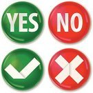 Yes - Single Word,Checkbox,Go - Single Word,Stop,No,True,Artificial,Interface Icons,Check Mark,Cross Shape,Symbol,Vector,Sparse,Simplicity,right,Badge,Approved,Design,Computer Icon,Deterioration,Paper,OK Sign,Green Color,Rejection,Ilustration,Red,Spotted