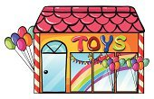 Built Structure,Toy,Retail,Child,Roof,Balloon,Window,Flag,Clip Art,Gift,Store,Business,Single Object,Helium,Computer Graphic,Customer,Childhood,Multi Colored,Rainbow