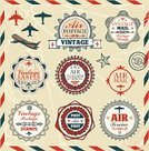 Airplane Ticket,Air Vehicle,Postage Stamp,Retro Revival,Label,Old-fashioned,Badge,Cultures,Flying,Old,Ilustration,Wing,Ornate,Air,Symbol,Elegance,Airplane,Banner,Placard,Art,Seal - Animal,Vector,Mail,Design,Merchandise,Red,template,Business,Set,hand drawn,Geometric Shape,Star Shape,Drawing - Art Product,Computer Graphic,Insignia,Curve,Decoration,Antique,Adventure,Exploration,Nostalgia,Sign,Classic,Jet - Band,Fly,Frame,Isolated,Blue