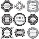 Scroll Shape,Retro Revival,Old-fashioned,Badge,Label,Circle,Design Element,White Background,Textured,Square,Swirl,Textured Effect,Black And White,Pattern,Vector,Design,Frame,Backgrounds,Antique,Banner,Ilustration,Text,Ribbon,Isolated,Art,Set,Ornate,Elegance,Typescript,Collection,Placard