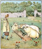 Pig,Ilustration,Victorian Style,Old-fashioned,Farm,Trough,Agricultural Equipment,Old,Europe,People,Cultures,Mammal,Agriculture,English Culture,History,British Culture,England,European Culture,19th Century Style,Animals Feeding,Young Men,Styles,Color Image,Randolph Caldecott,Picture Book,Nostalgia,Print,Farmer,UK,Nursery Rhyme,Rustic,Painted Image,Men,Male,Agricultural Occupation,Animal,Domestic Pig,Art,Lithograph,Image Created 19th Century,Antique,Engraved Image,Feeding