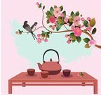 Bird,Sakura,Japan,Single Flower,Backgrounds,Chinese Culture,Tea - Hot Drink,Season,Menu,Ilustration,Singing,Blossom,Symbol,Exoticism,Vector,Blooming,East,White,Romance,Leaf,Freshness,Easter,Cultures,Nature,Green Color,Ornamental Garden,Tea Ceremony,Floral Pattern,Asia,Branch,Summer,Swallow - Bird,Petal,Banquet,Plant,Springtime,Tree