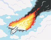 Fire - Natural Phenomenon,Moving Down,Flame,Airplane,Cartoon,Crisis,Commercial Airplane,Jet - Band,Disaster,Breaking,Crash,Accident,Violence,Horror,Flying,Terrorism,Smoke - Physical Structure,Terrified,Sky,Bomb,Aggression,Bombing,Fumes,Fear,Cloudscape,Sabotage,Death,Burning,Cloud - Sky