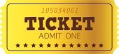 Ticket,Gold,Movie,Film Industry,Passing,Ticket Counter,Coupon,Luxury,Vector,Classical Concert,Admit One,Accessibility,White,Retro Revival,Wealth,Expense,Old,Lottery,Symbol,Inside Of,Business,Ilustration,Yellow,Single Object,Art,Clip Art,Token,Event,Brown,Metallic,Remote,Entertainment,Paper,Nightlife,Label,White Background,Design