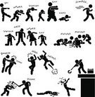 Zombie,Running,Crawling,Survival,Silhouette,Symbol,Chasing,Walking,Eating,Heroes,Vector,Men,People,Women,Gun,Fighting,Illness,Biting,Spooky,One Person,Death,Dead Person,Virus,Defending,Halloween,Black Color,Undead,Killing,Humor,Monster,Aggression,Despair,Horror,Axe,Judgment Day - Apocalypse,Terrified