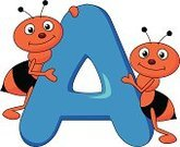 Ant,Mascot,Letter A,Cartoon,Brown,Humor,Happiness,Blue,Small,Insect,Animals In The Wild,Fun,Black Color,Cute,Characters,Cheerful,Keep,Vector,Ilustration,Smiling,Alphabet,Standing