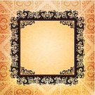 Elegance,Frame,Swirl,Black Color,Pattern,Yellow,Old-fashioned,Backgrounds,Beautiful,Abstract,Curve,Rectangle
