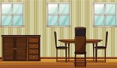 Flooring,Indoors,Lifestyles,Construction Industry,Window,Domestic Room,Furniture,Table,Decor,Dinner,Material,Wood - Material,Comfortable,Seat,Closet,Chair,Meal,Handle,Glass - Material,Computer Graphic,Drawer,dinning