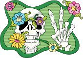 Peace Sign,Human Skeleton,Stem,Flower,Vector,Single Flower,Love