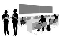 Silhouette,People,Teaching,Teacher,Occupation,Blackboard,University,Classroom,Discussion,Women,Talking,Desk,Job - Religious Figure,Outline,Student,Men,Reading,High School Student,Campus,Learning,Education,Vector,Ilustration,Chair,High School
