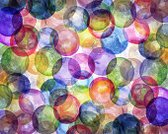 Watercolor Painting,Blue,Design,Abstract,Spotted,Backgrounds,Circle,Yellow,Multi Colored,Red,Shape,Purple,Green Color,Polka Dot,Vibrant Color,Bubble,Textured,Painted Image,Art,Sphere